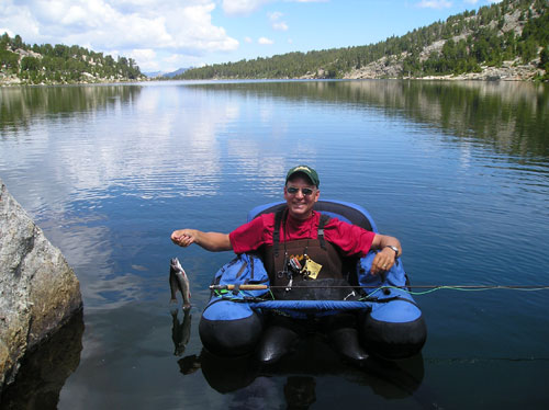 Fly fishing wyoming wind river range lander wyoming for Belly boat fishing